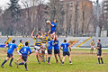 Turin march lineout second derby della mole cus torino rugby torino march turin italy Royalty Free Stock Photos