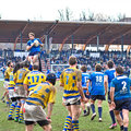Turin march lineout second derby della mole cus torino rugby torino march turin italy Royalty Free Stock Photography
