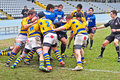 Turin march maul unidentified players second derby della mole cus torino rugby torino march turin italy Stock Photo
