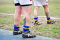 Turin march tattoos legs unidentified players rugby torino team second derby della mole cus torino rugby torino march turin italy Stock Photo