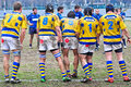 Turin march teams face to face second derby della mole cus torino rugby torino march turin italy Royalty Free Stock Image