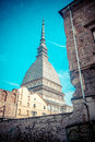 Turin mole antonelliana the symbol of city in italy Stock Photos