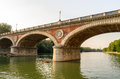 Turin ponte isabella and river po Stock Image