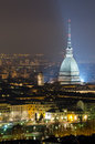 Turin torino mole antonelliana at night Royalty Free Stock Photo