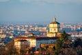 Turin (Torino) Monte dei Cappuccini e Chiesa di Santa Maria al Monte Royalty Free Stock Photo