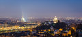 Turin (Torino), night panorama Royalty Free Stock Photos