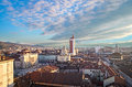 Turin (Torino), panorama from the bell tower Royalty Free Stock Photography