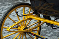 Turism carriage wheels of in seville spain Royalty Free Stock Images