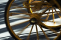 Turism carriage wheels of in seville spain Stock Photography
