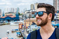 Turist enjoying a beautiful day in Belem do Para in Brazil Royalty Free Stock Photo