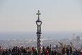 Turistas de barcelona parc guell Fotos de archivo