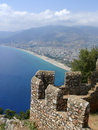 Turkey, Alanya - Cleopatra´s beach Royalty Free Stock Photos