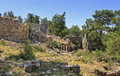 Turkey the ancient ruins of seleucia pamphylia Stock Photos