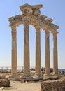 Turkey apollon temple in side Stock Photos