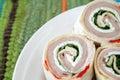 Turkey and Cheese Wraps Royalty Free Stock Photo
