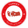 Turkey circular patriotic badge.