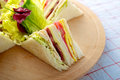 Turkey Club Sandwich Royalty Free Stock Photo