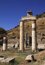 Turkey Ephesus Large standing columns Royalty Free Stock Image