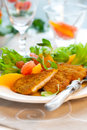 Turkey escalope Stock Photography