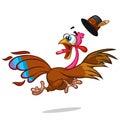 Turkey Escape Cartoon Mascot Character