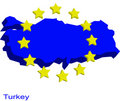 Turkey in EU Stock Photo