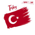 Turkey flag brush strokes