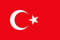 Turkey flag for graphic. Royalty Free Stock Photo