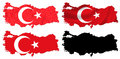 Turkey flag over map collage Stock Photography