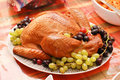 Turkey With Grapes Stock Photography
