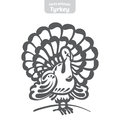 Turkey hand-drawn vector illustration.