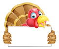 Turkey Holding a Sign Royalty Free Stock Photo