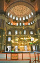 Turkey istanbul the inner space of the new mosque yeni camii view Stock Image