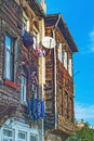 Turkey. Istanbul. Old wooden houses on a narrow street Royalty Free Stock Photo