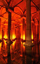 Turkey. Istanbul. Underground basilica cistern Royalty Free Stock Photos