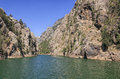 Turkey manavgat river at oymapinar in Royalty Free Stock Photos