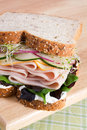 Turkey on Multi-Grain Bread Royalty Free Stock Photo