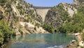 Turkey oymapinar dam at manavgat river Stock Photos