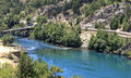 Turkey oymapinar dam at manavgat river Royalty Free Stock Image