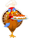 Turkey and Pie Royalty Free Stock Photo