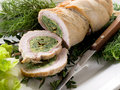 Turkey roll filled Stock Photos