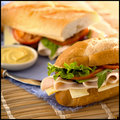 Turkey Sandwich Royalty Free Stock Photo