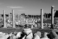 Turkey. Side. Antique ruins  in black and white Royalty Free Stock Photo
