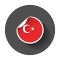 Turkey sticker with flag.