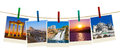 Turkey travel photography on clothespins Stock Photography
