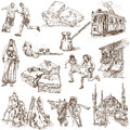Turkey traveling series collection of an hand drawn illustrations description full sized hand drawn illustrations isolated on Royalty Free Stock Photography