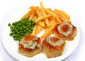 Turkey vol-au-vents Royalty Free Stock Images
