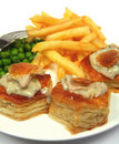 Turkey vol-au-vents Stock Image