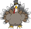 Turkey Wearing A Pilgrim Hat Stock Photos