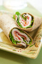 Turkey wrap Royalty Free Stock Photo