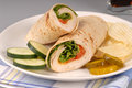 A turkey wrap with cheese Royalty Free Stock Photography
